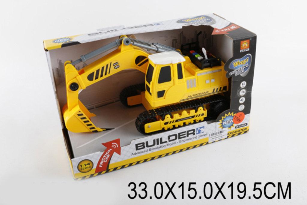 Игрушки для мальчиков: Инерционный Экскаватор 33см ЗВУК,СВЕТ WY380A в коробке. в Игрушки Сити