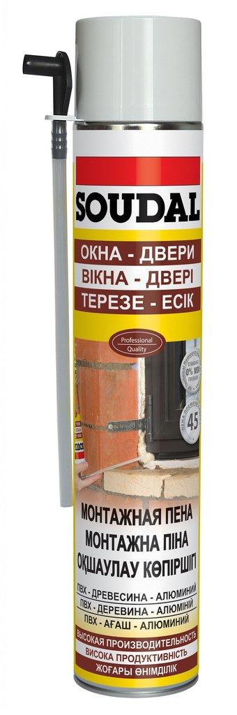 Пены и герметики: Пена монтажная Soudal Окна и двери 750мл с трубкой в АНЧАР,  строительные материалы
