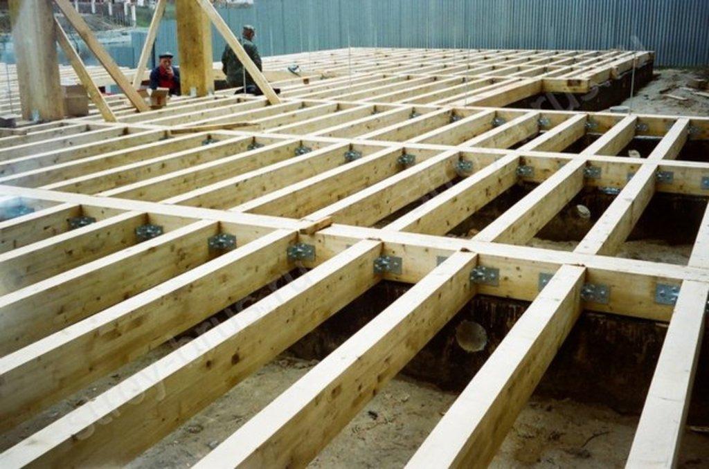 Полы-потолок: Установка лаг в А-Строй