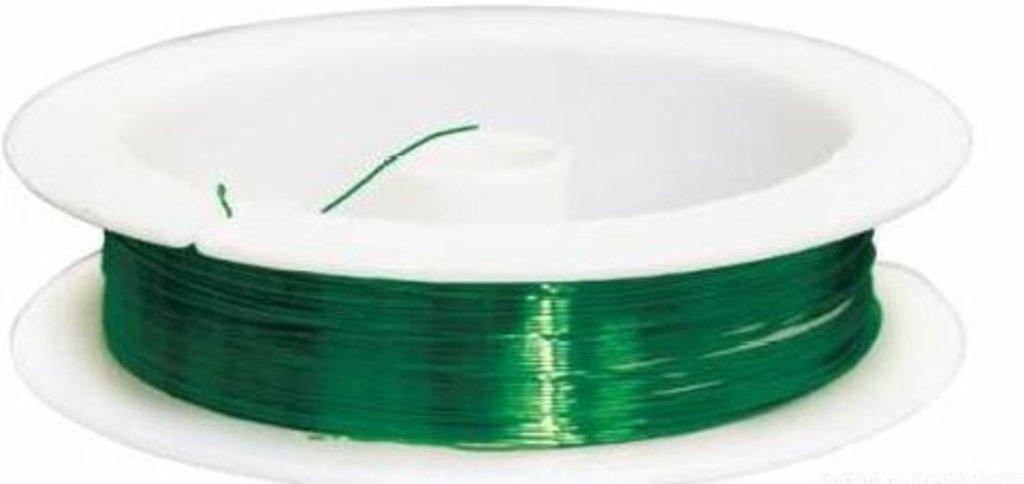 Проволока: Проволока на катушке 09Е04,  0,3мм*10м.(зеленый) в Редиант-НК