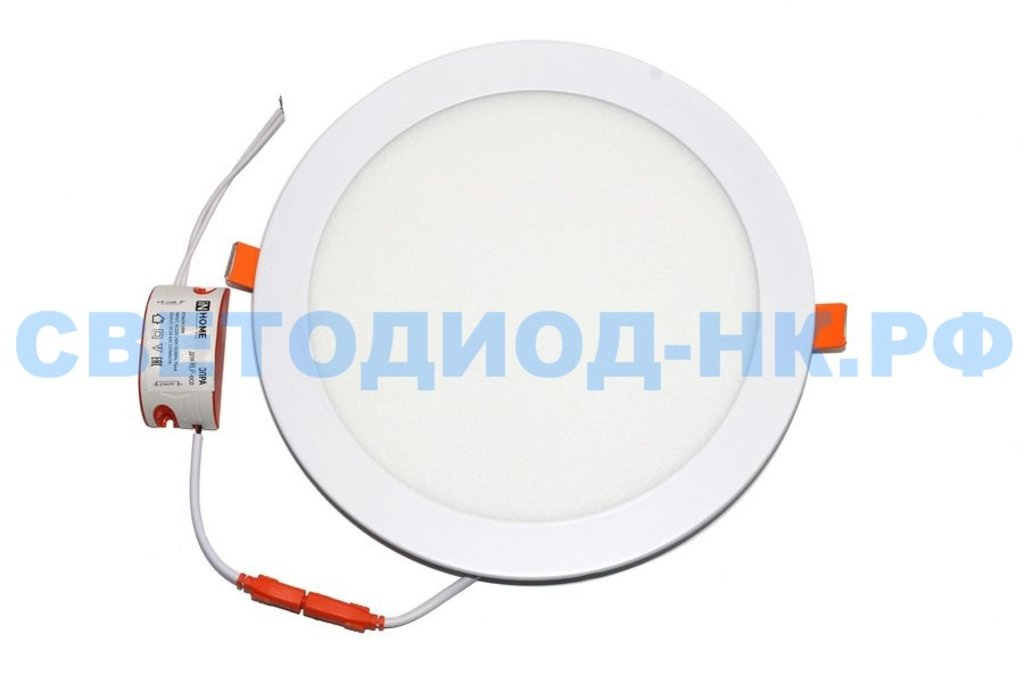 Встраиваемые светодиодные светильники: Панель светодиодная круглая RLP-eco 18Вт 230В 4000К  225/195мм белая в СВЕТОВОД