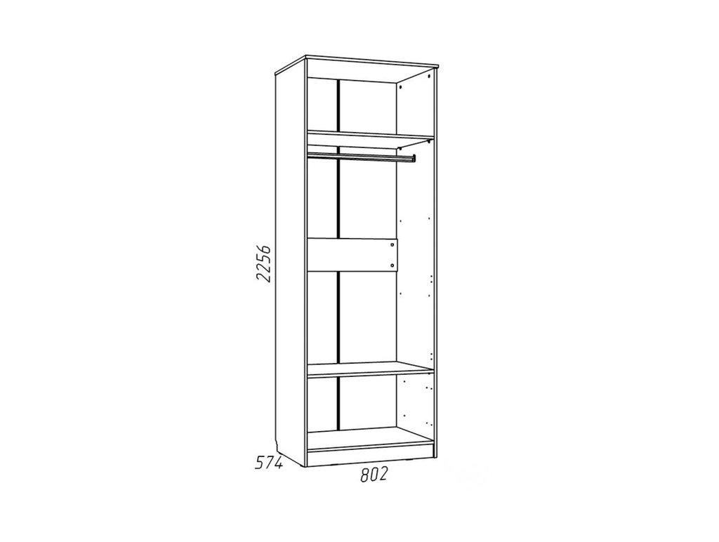 Детские шкафы и стеллажи: Шкаф для одежды НМ 013.02-03 М Рико-М в Стильная мебель
