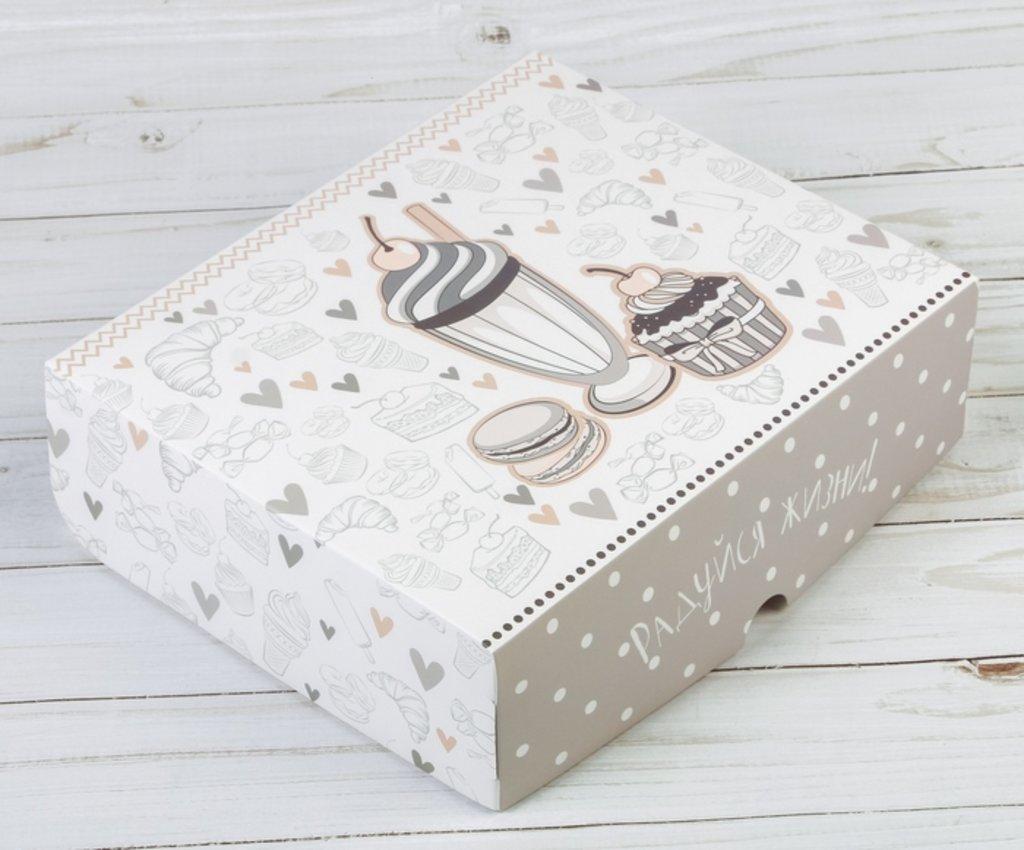 Упаковка: Коробка подарочная складная Радуйся жизни в ТортExpress