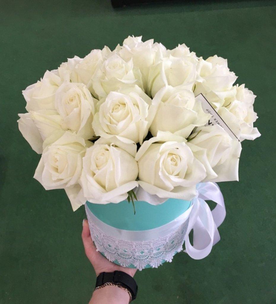 """Premier mini: """"Premier mini"""" 15 Белых Роз (с кружевом и лентами) в Botanique №1,ЭКСКЛЮЗИВНЫЕ БУКЕТЫ"""