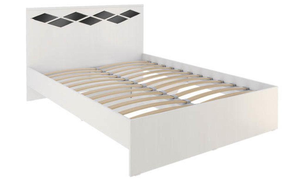 Кровати: Кровать Диана 3 (1400, орт. осн., металл) в Стильная мебель