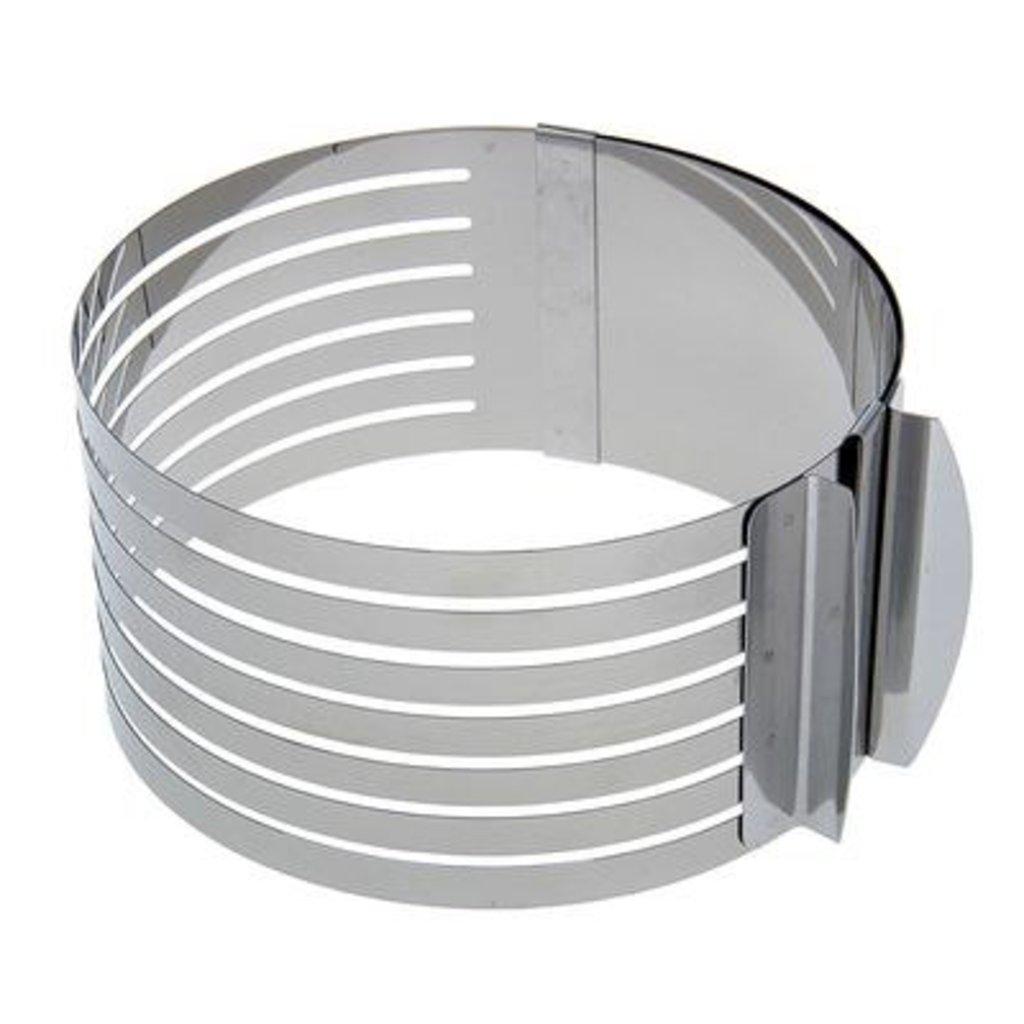 Кондитерский инвентарь: Форма для выпечки с прорезями и регулировкой размера 16-20см в ТортExpress