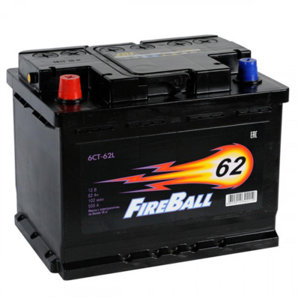FireBall: Аккумулятор FireBall 6СТ-62 в БазаАКБ