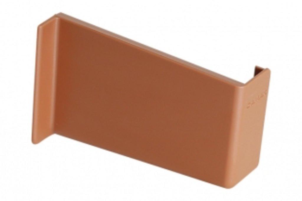 Подвеска полок: Крышечка декоративная для подвески арт.806 светло-коричневая, правая в МебельСтрой