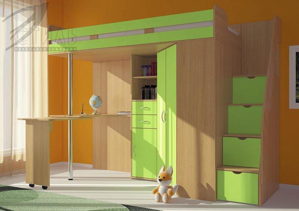 Детские: Кровать-чердак Мийа (зеленый) в Диван Плюс