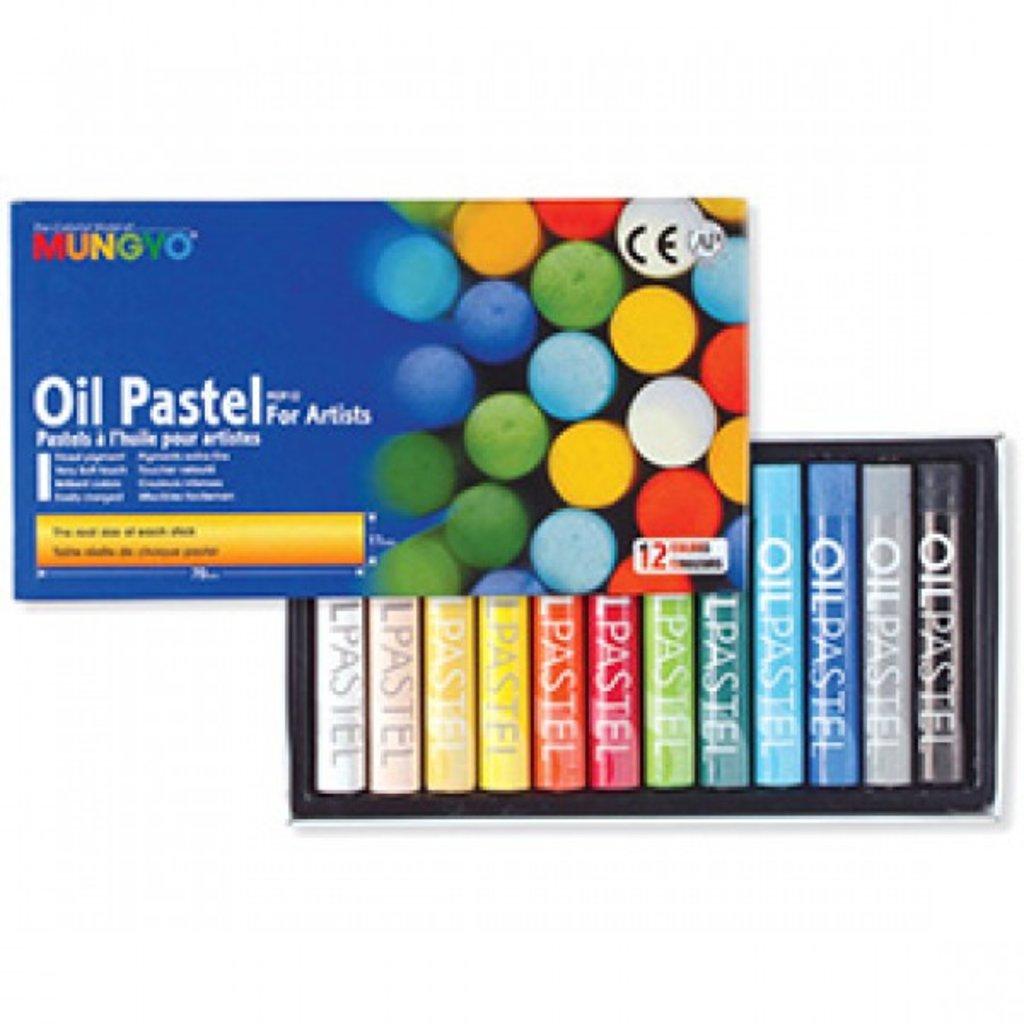 Пастель: Пастель MUNGYO oil pastels, 12 цветов в Палитра