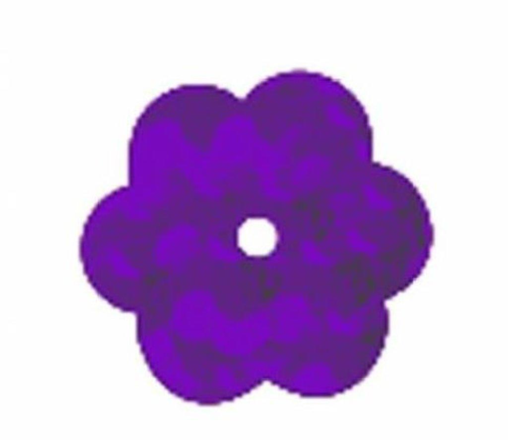 """Цветочки 10мм.: Пайетки""""Цветочки""""10мм.,упак/10гр.Астра(цвет:50126 сиреневый голограмма) в Редиант-НК"""