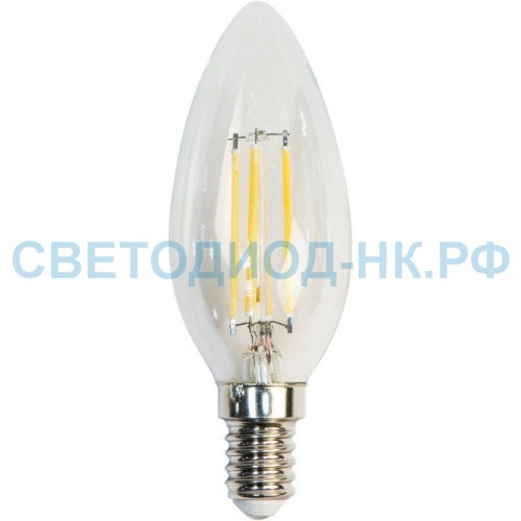 Диммируемые лампы: Светодиодная лампа LED свеча 5W 230V E14 4000K, LB 68 диммируемая в СВЕТОВОД