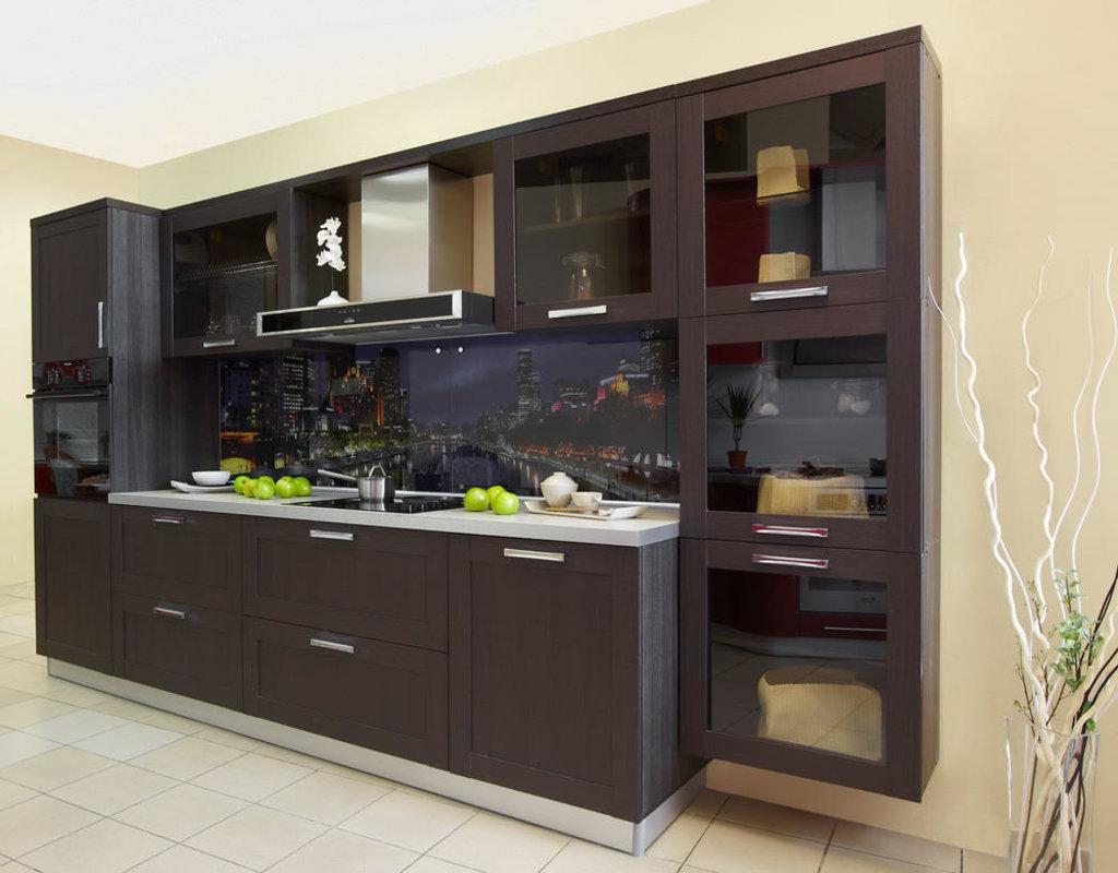 Кухни: Кухня Техно-1 Каштан в Стильная мебель