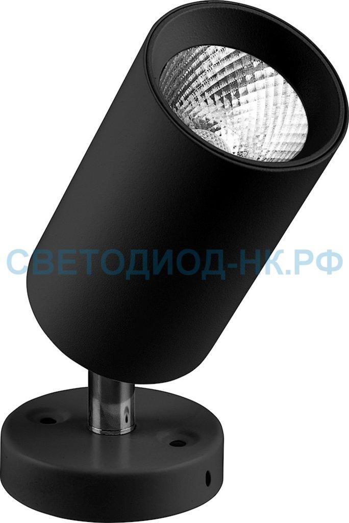 Накладные поворотные светильники: AL519, 10W, 800Lm, 4000K, черный, наклонный в СВЕТОВОД