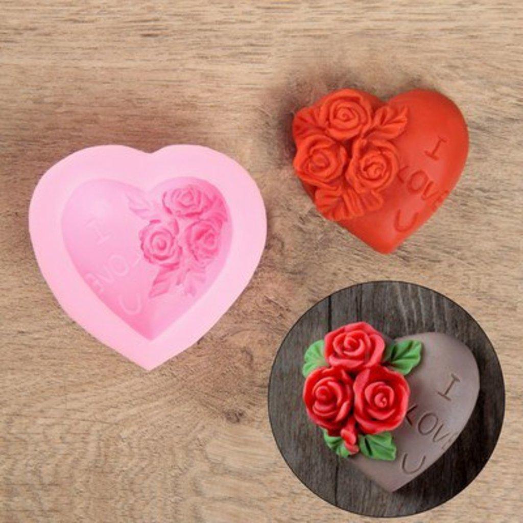 Молды: Молд силиконовый Роза в сердце в ТортExpress