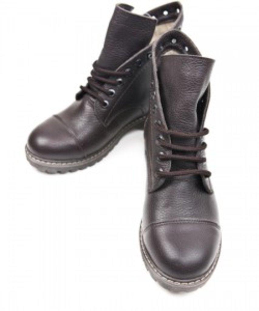 SALE: Ботинки из натуральной итальянской кожи шоколадные в Sesso