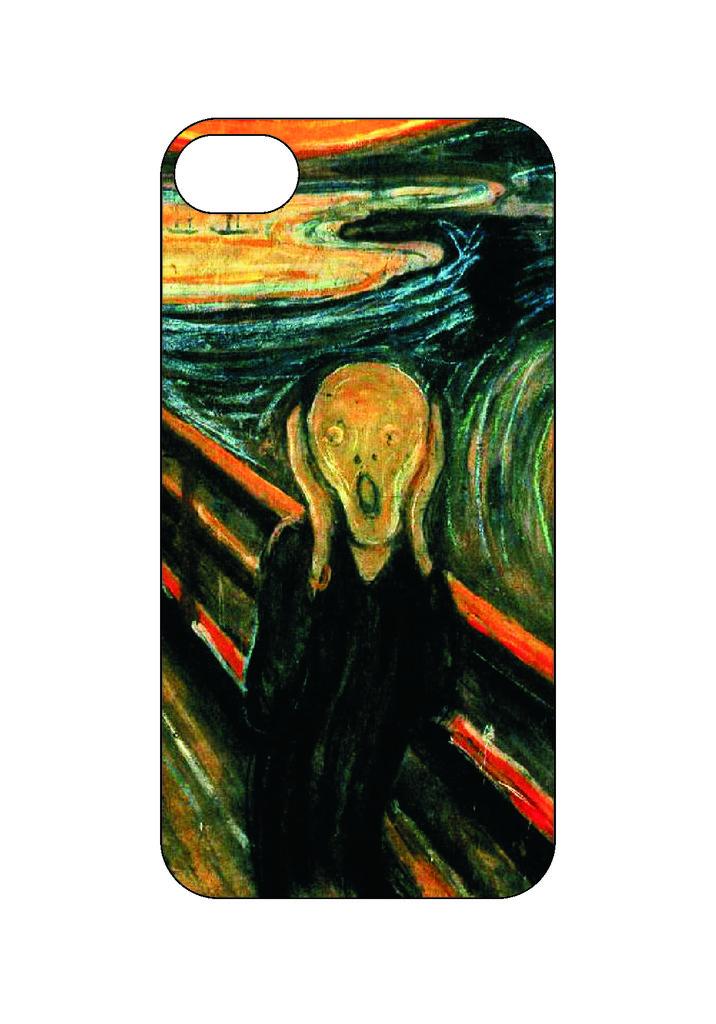 Выбери готовый дизайн для своей модели телефона: Крик в NeoPlastic