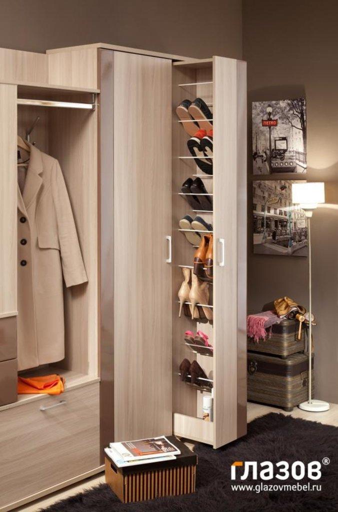 Мебель для прихожей Berlin (Шоколад глянец): Мебель для прихожей Berlin. Композиция 2 (Шоколадный глянец) в Стильная мебель