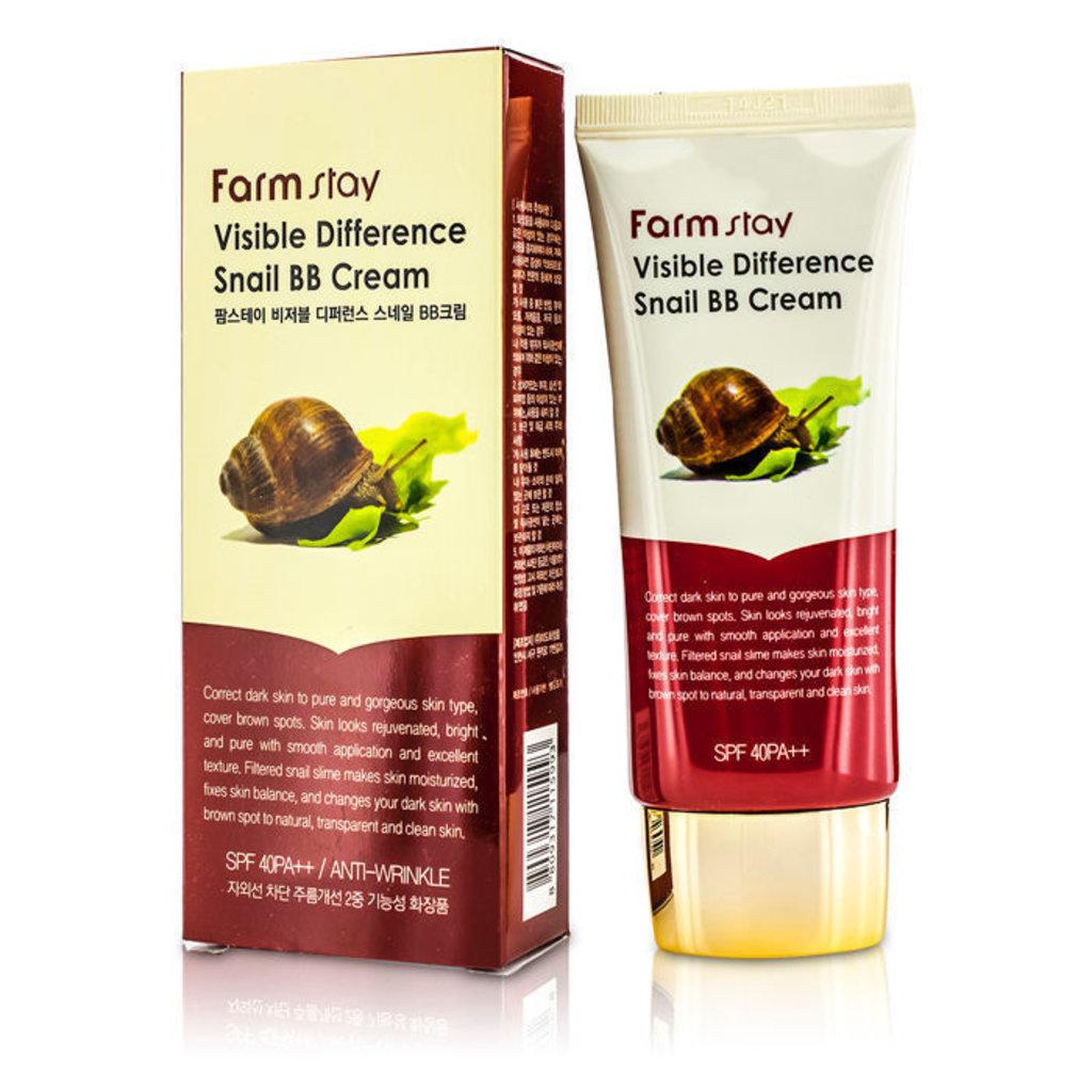 Тональный крем, BB крем: ВВ крем Farm Stay Visible Difference Snail BB Cream в Мой флакон