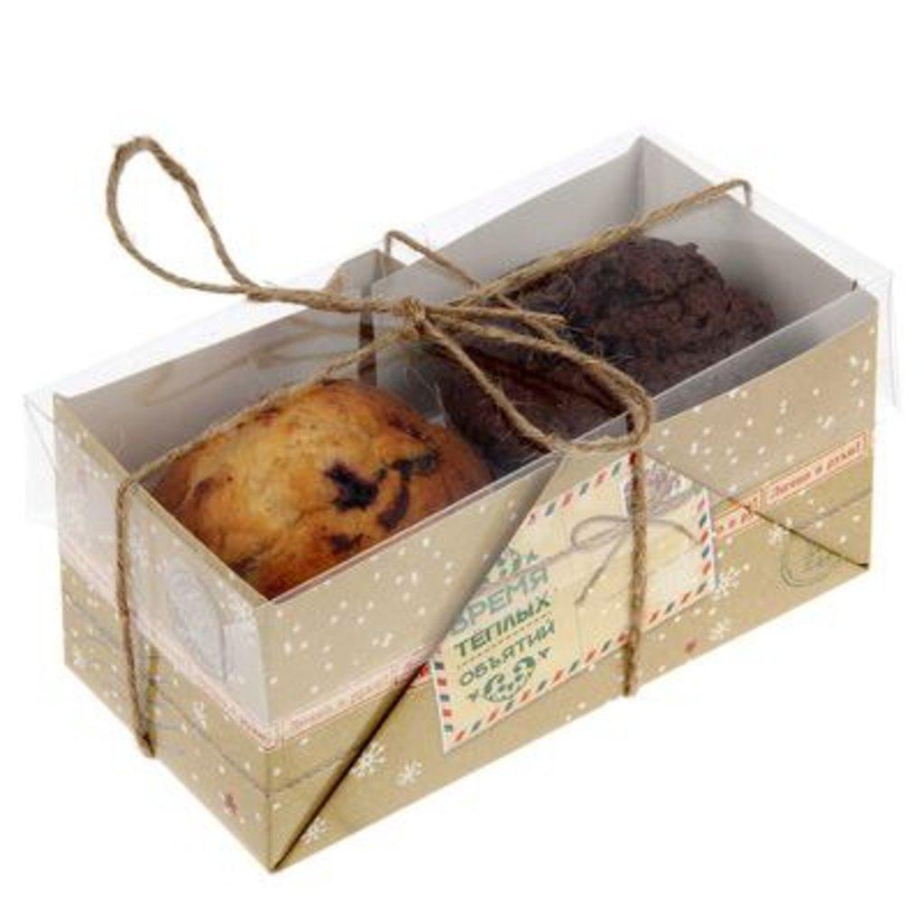 "Упаковка: Коробка для 2 капкейков ""Время тёплых объятий "" в ТортExpress"