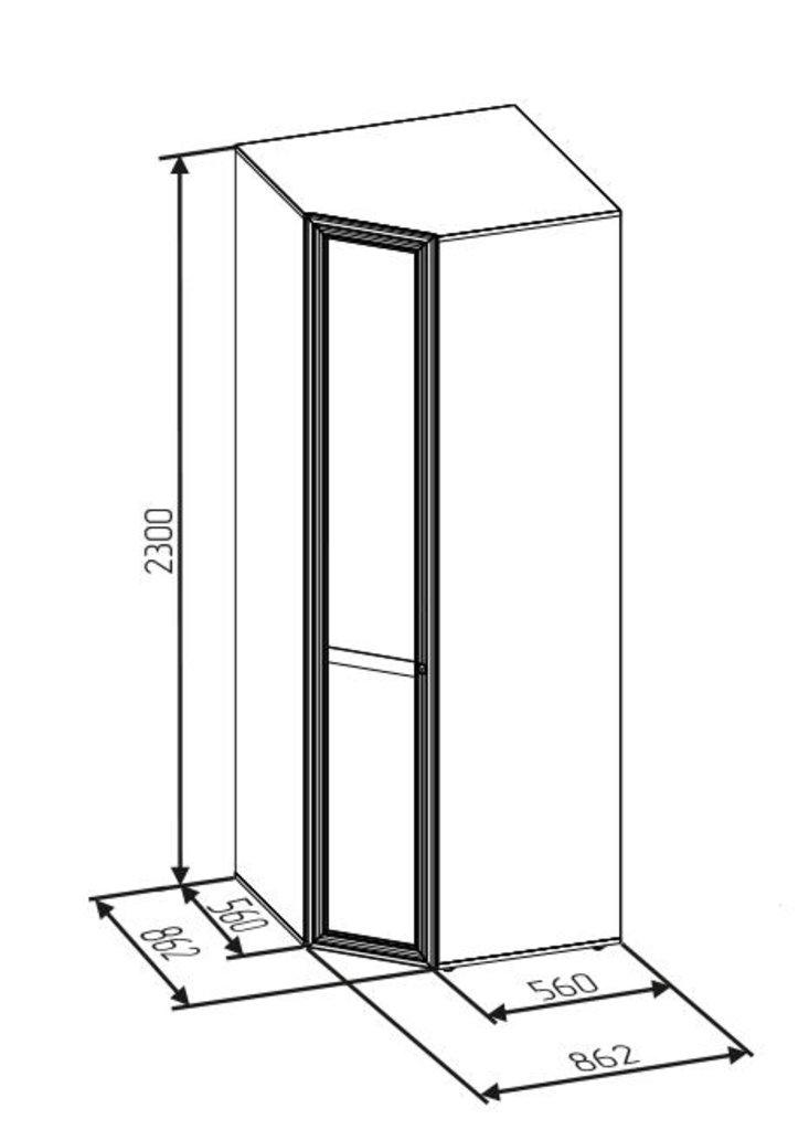 Шкафы для одежды и белья: Шкаф угловой PAOLA 156 патина (Стандарт прав.) в Стильная мебель