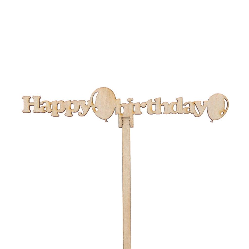 Украшения, декор: Топпер Happy birthday в ТортExpress