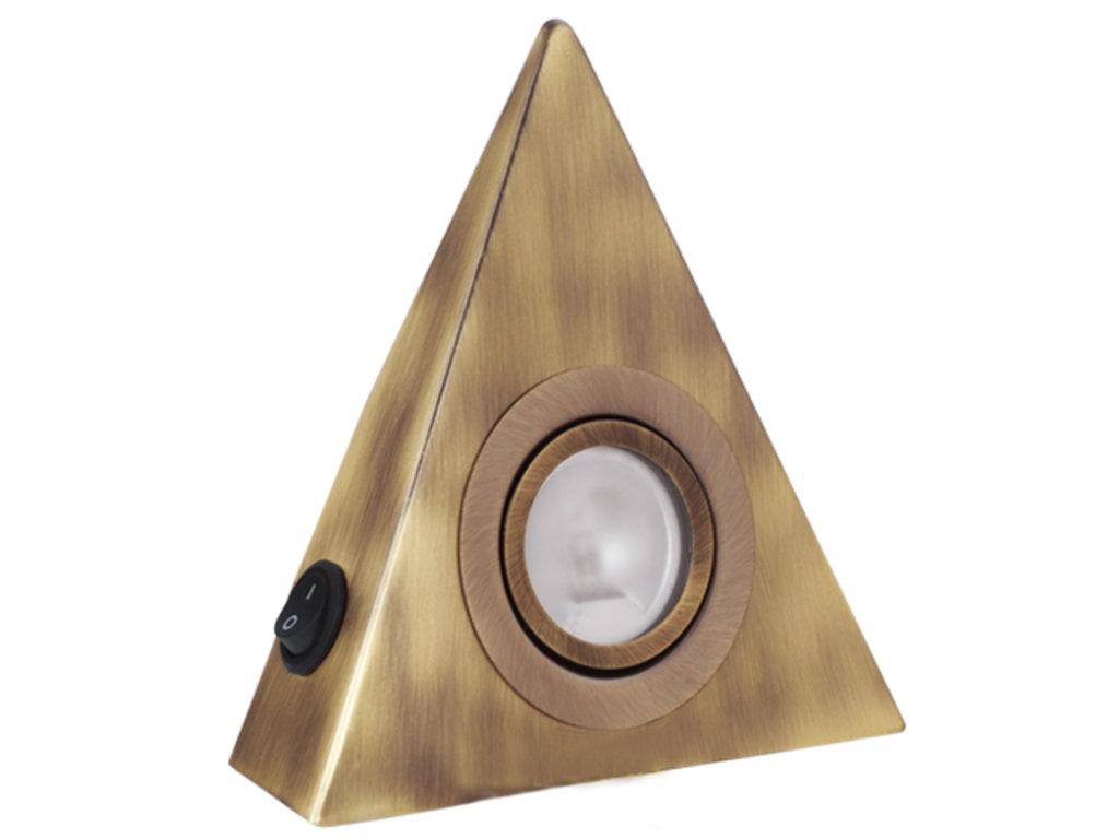Светодиодные светильники: Накладной треугольник хром с выключателем в ВДМ, Все для мебели, ИП Жаров В. Б.