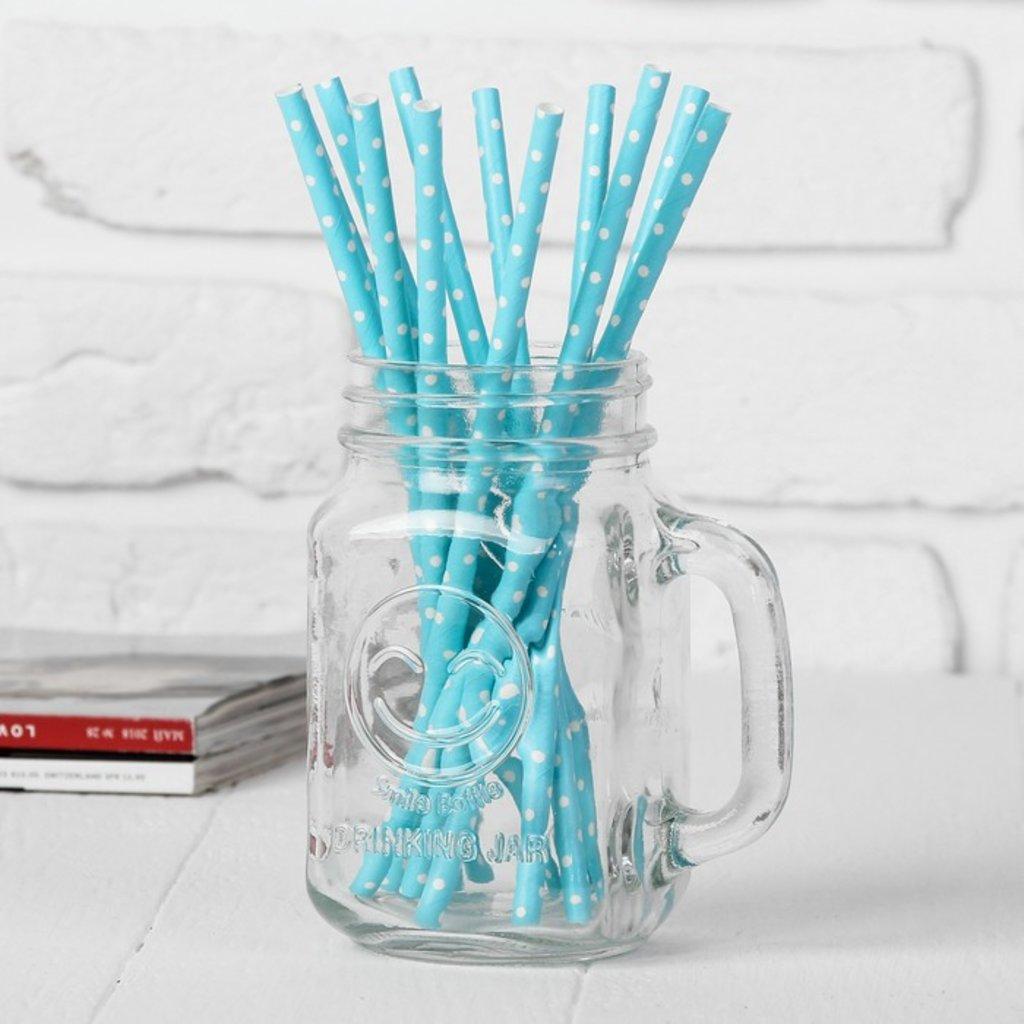 Упаковка: Трубочки для коктейля Горох аквамарин (набор 12шт) в ТортExpress