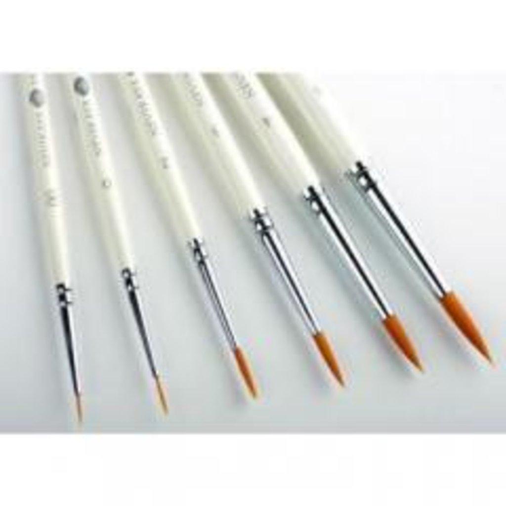 круглая: Кисть синтетическая круглая с длинной ручкой Невская Палитра №4 в Шедевр, художественный салон