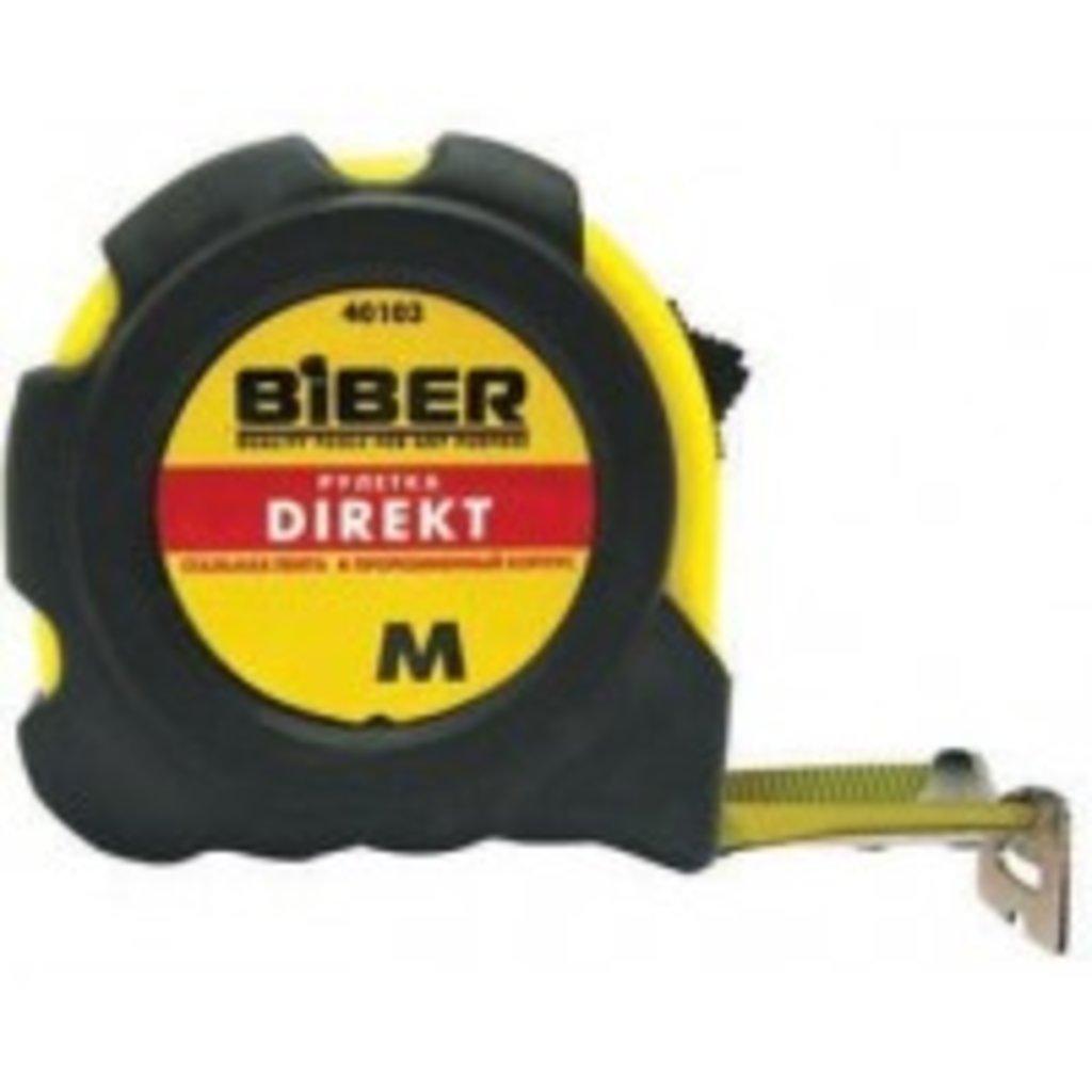 Инструмент ручной: Рулетка 3м*16 мм БИБЕР (резиновый корпус) в Борей, ООО
