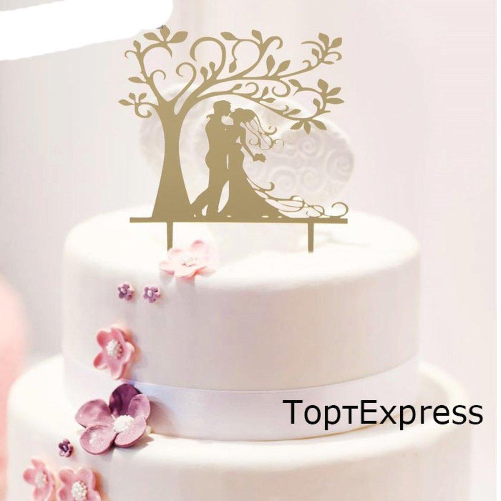 """Свадебные: Топпер """"Свадьба в саду"""" Размер: 13х18 см в ТортExpress"""