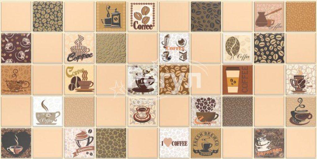 Панели ПВХ: Мозаика Кофе с молоком бежевый в Мир Потолков