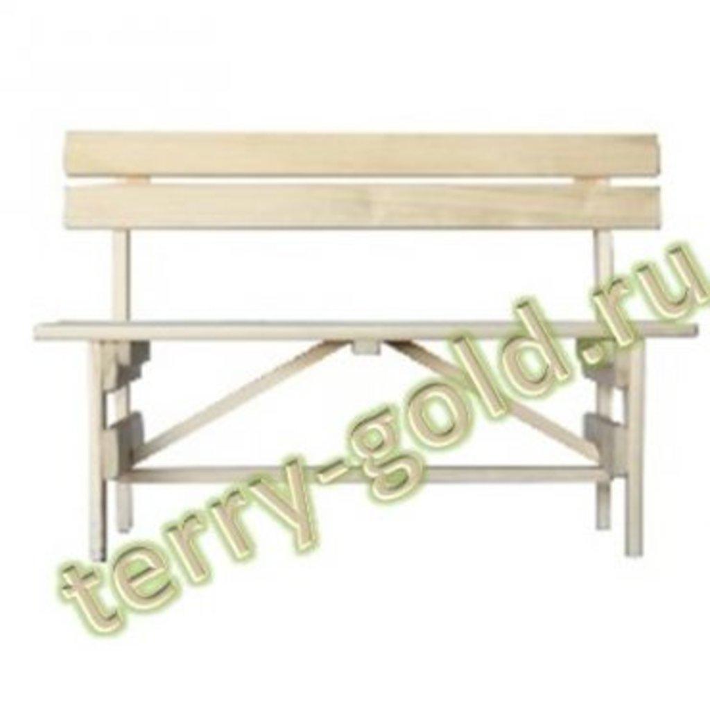 Садовая и пляжная мебель, общее: Скамья со спинкой в Terry-Gold (Терри-Голд), погонажные изделия