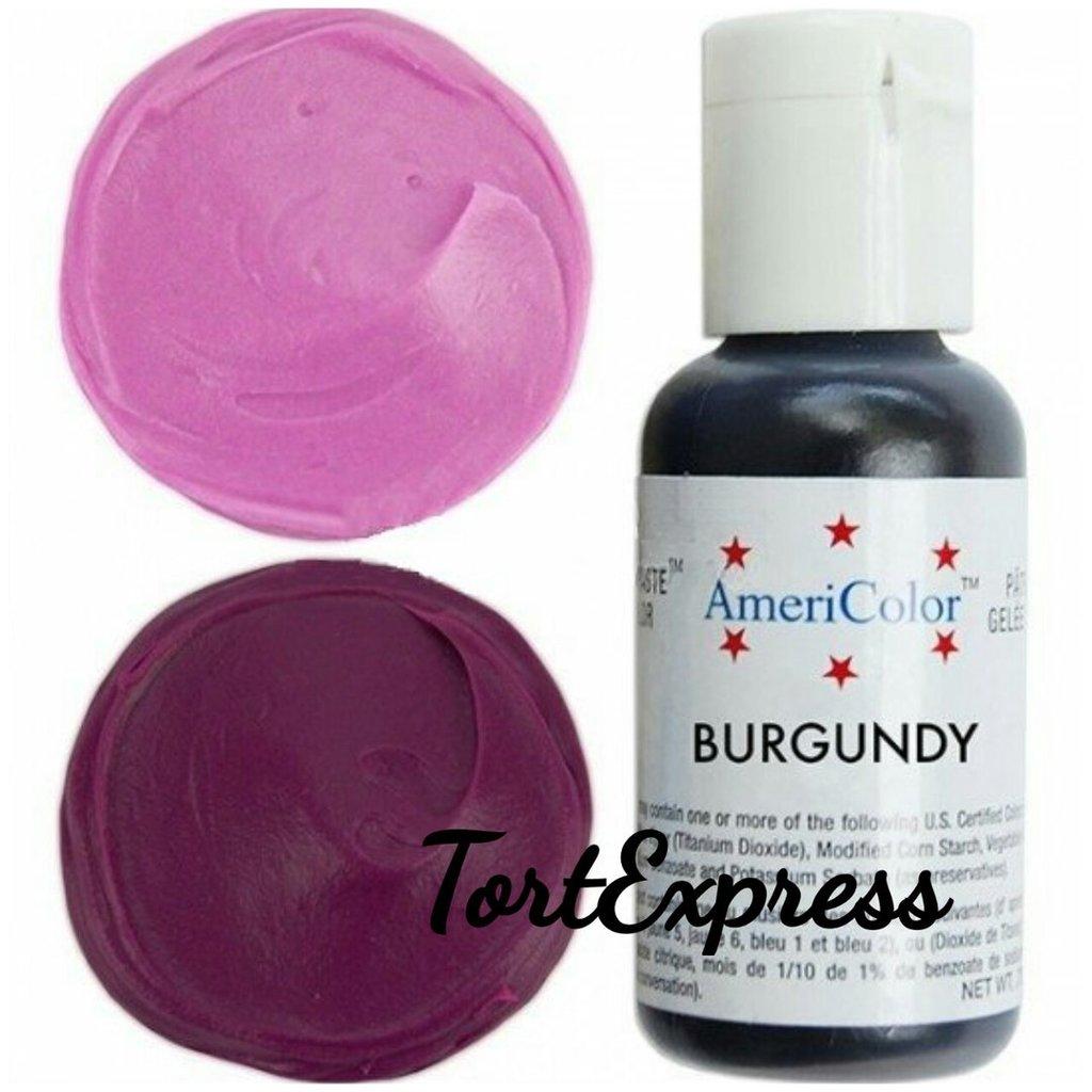 Ингредиенты: Гелевый краситель AmeriColor, бургундский, флакон 21 гр в ТортExpress