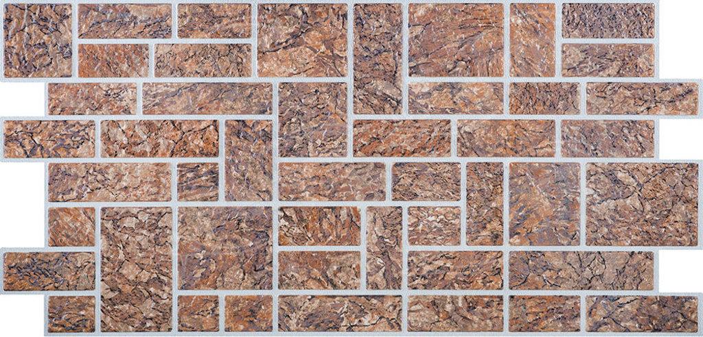 Панели ПВХ: Камень Пиленый коричневый в Мир Потолков