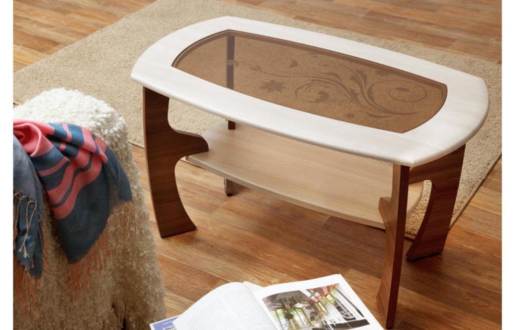 Столы журнальные: Журнальный столик Маджеста - 3 со стеклом и рисунком в Vesa