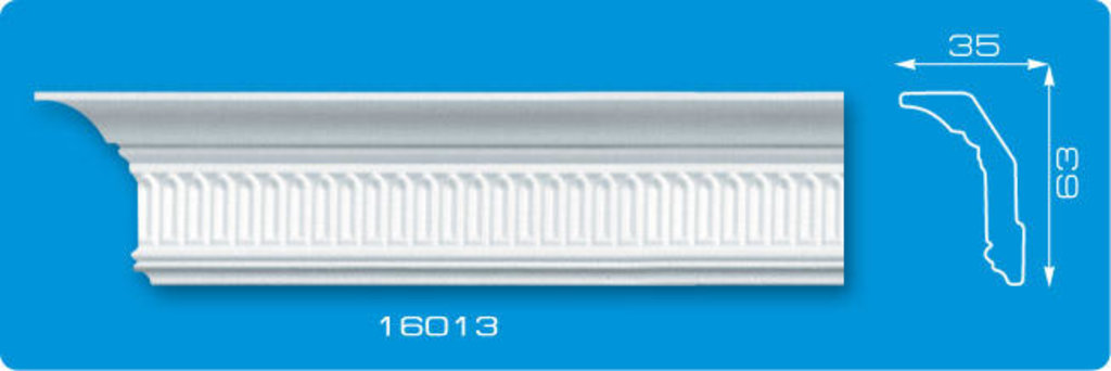 Плинтуса потолочные: Плинтус потолочный ФОРМАТ 16013 инжекционный длина 1,3м, средний в Мир Потолков