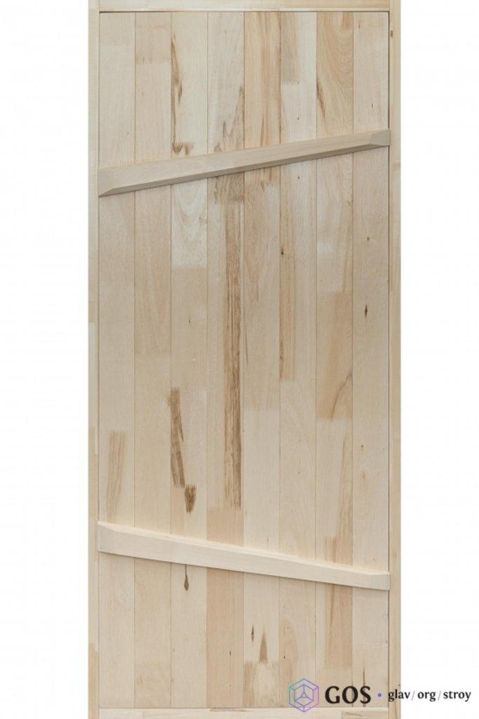 """Двери для саун и бань: Дверь """"На клин"""" 700*1800 мм банная с петлями (массив липы) в Погонаж"""