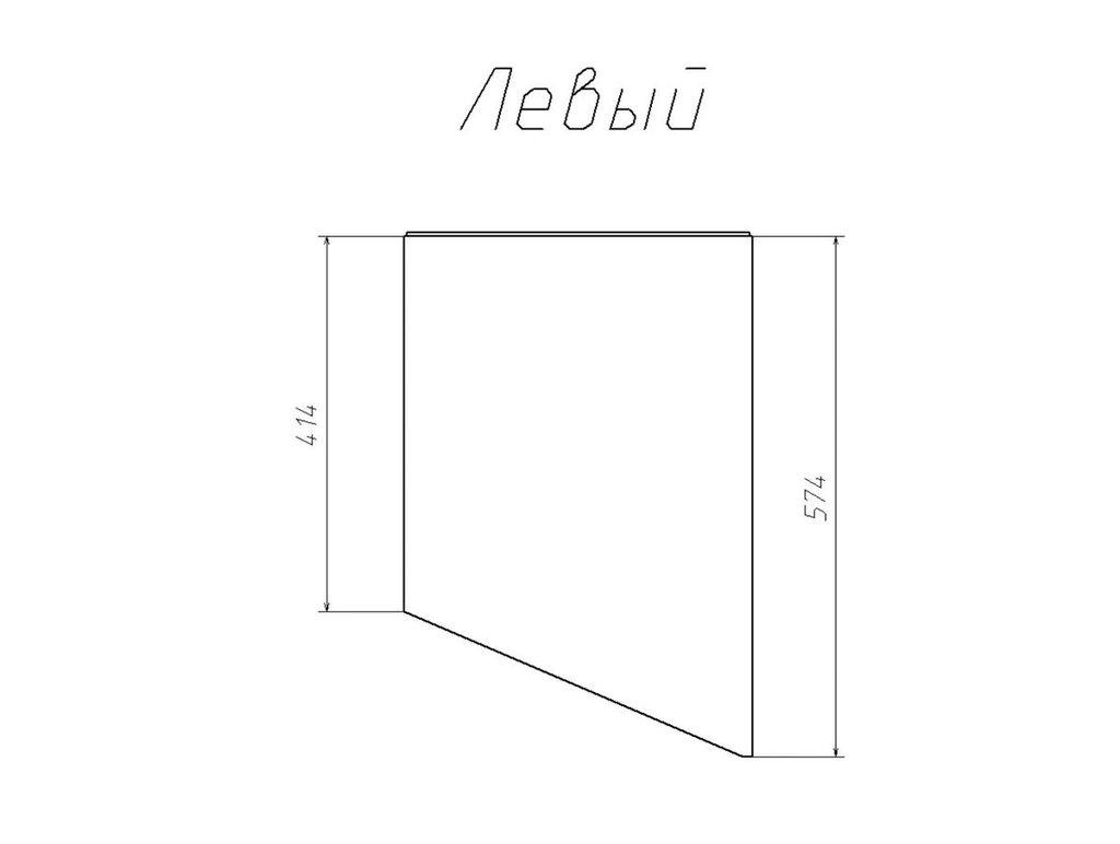 Детские шкафы и стеллажи: Шкаф-пенал скос НМ 013.05-01 ЛВ М Рико-М в Стильная мебель