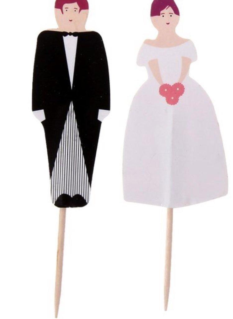 Свадебные: Набор топперов 24 шт Жених и невеста в ТортExpress
