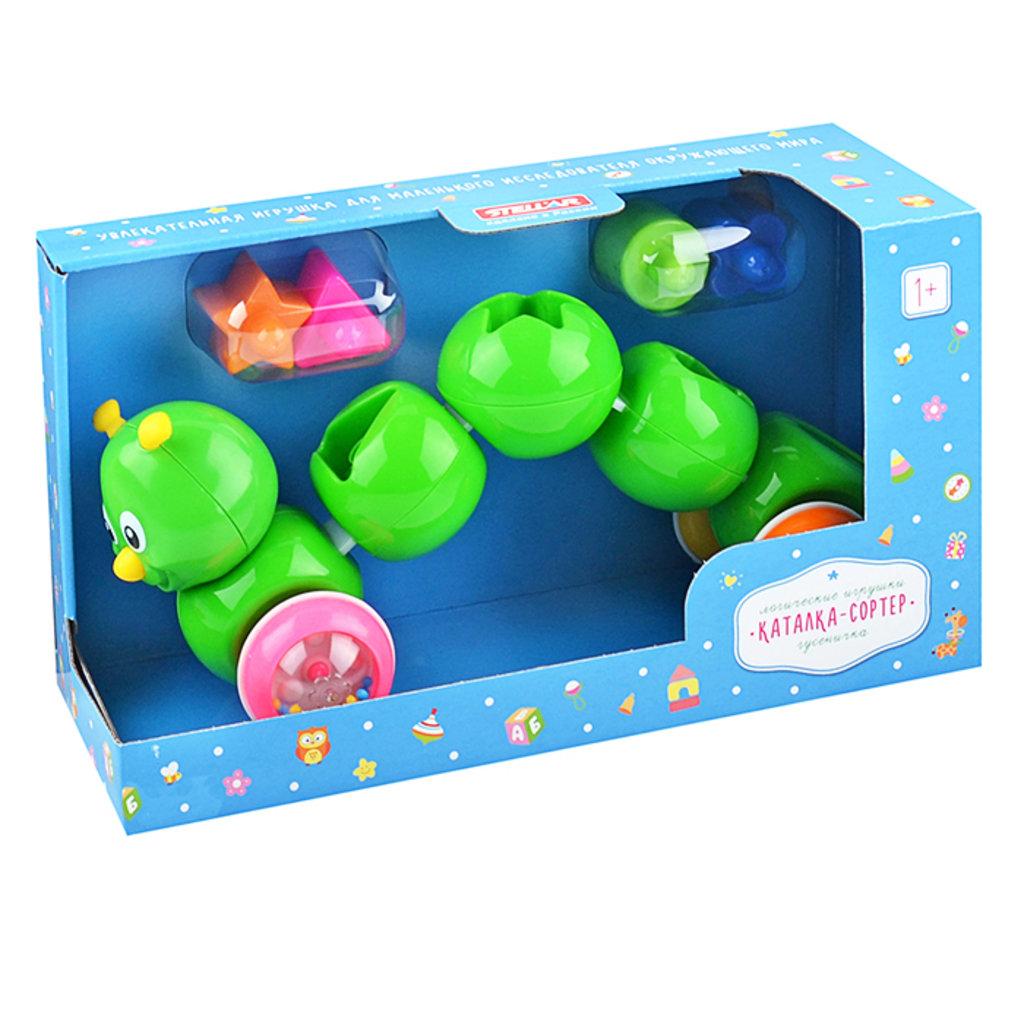 "Игрушки для малышей: Каталка-сортер ""Гусеничка"" /Стеллар/ в Игрушки Сити"