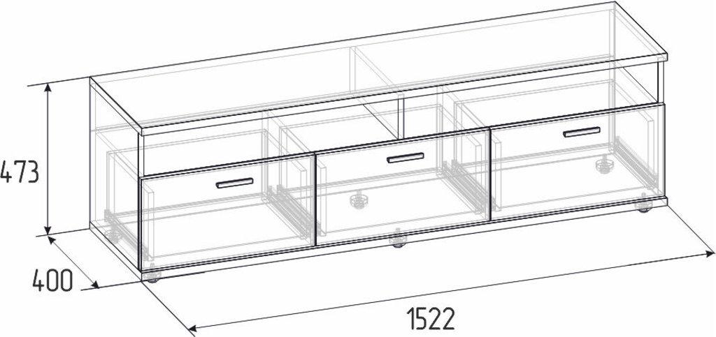 Тумбы и стойки под телевизор и аппаратуру: Тумба ТВ Норвуд 3 в Стильная мебель