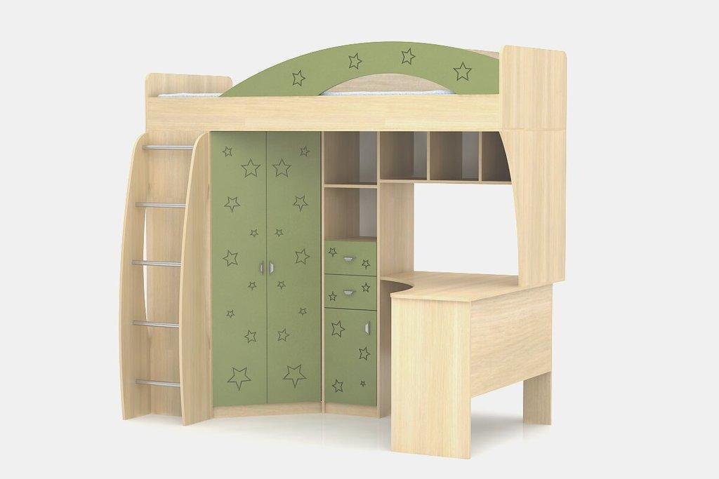 Детские и подростковые кровати: Шкаф-кровать Денди Звёздочка МДФ в Стильная мебель