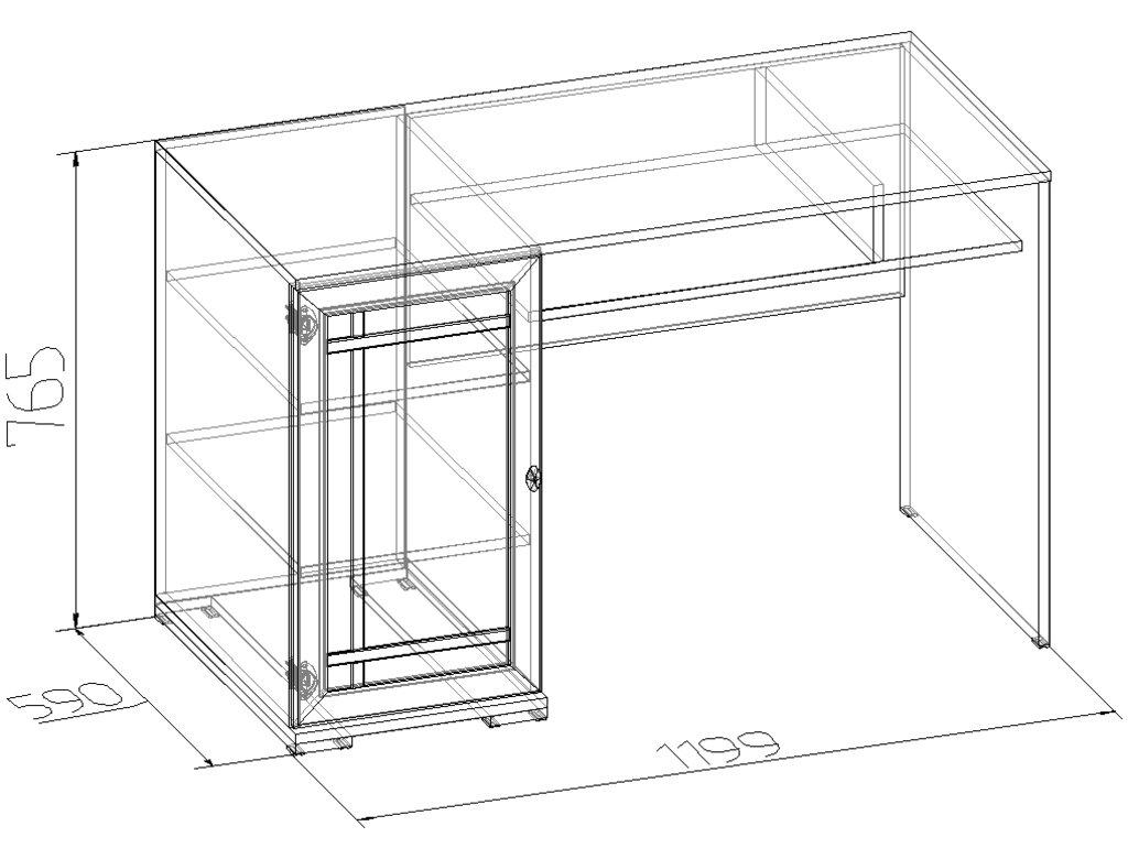 Письменные столы: Стол письменный Sherlock 115 в Стильная мебель
