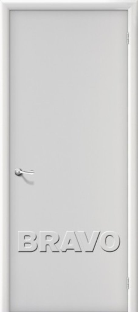 Двери ламинированные BRAVO: Гост Л-23 (Белый) в STEKLOMASTER