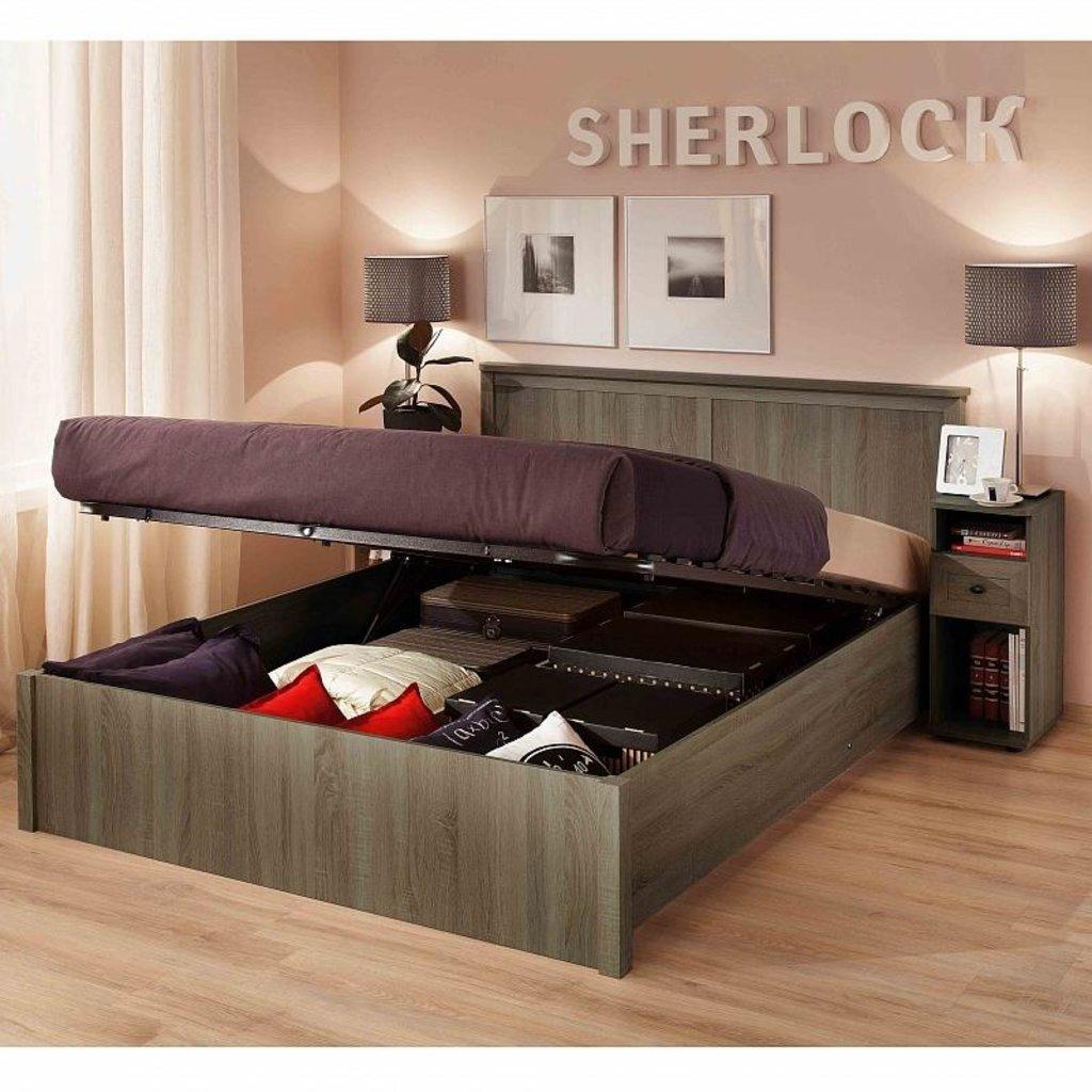 Кровати: Кровать Sherlock 41.2 (1800, мех. подъема) в Стильная мебель
