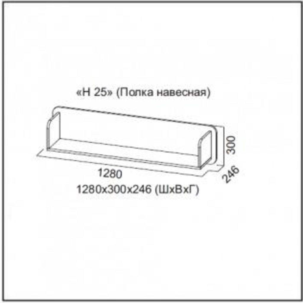 Мебель для гостиной Нота-25: Полка навесная Нота-25 в Диван Плюс