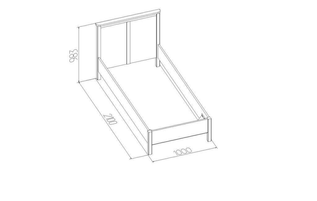 Кровати: Кровать Sherlock 45 (900, орт. осн. дерево) в Стильная мебель