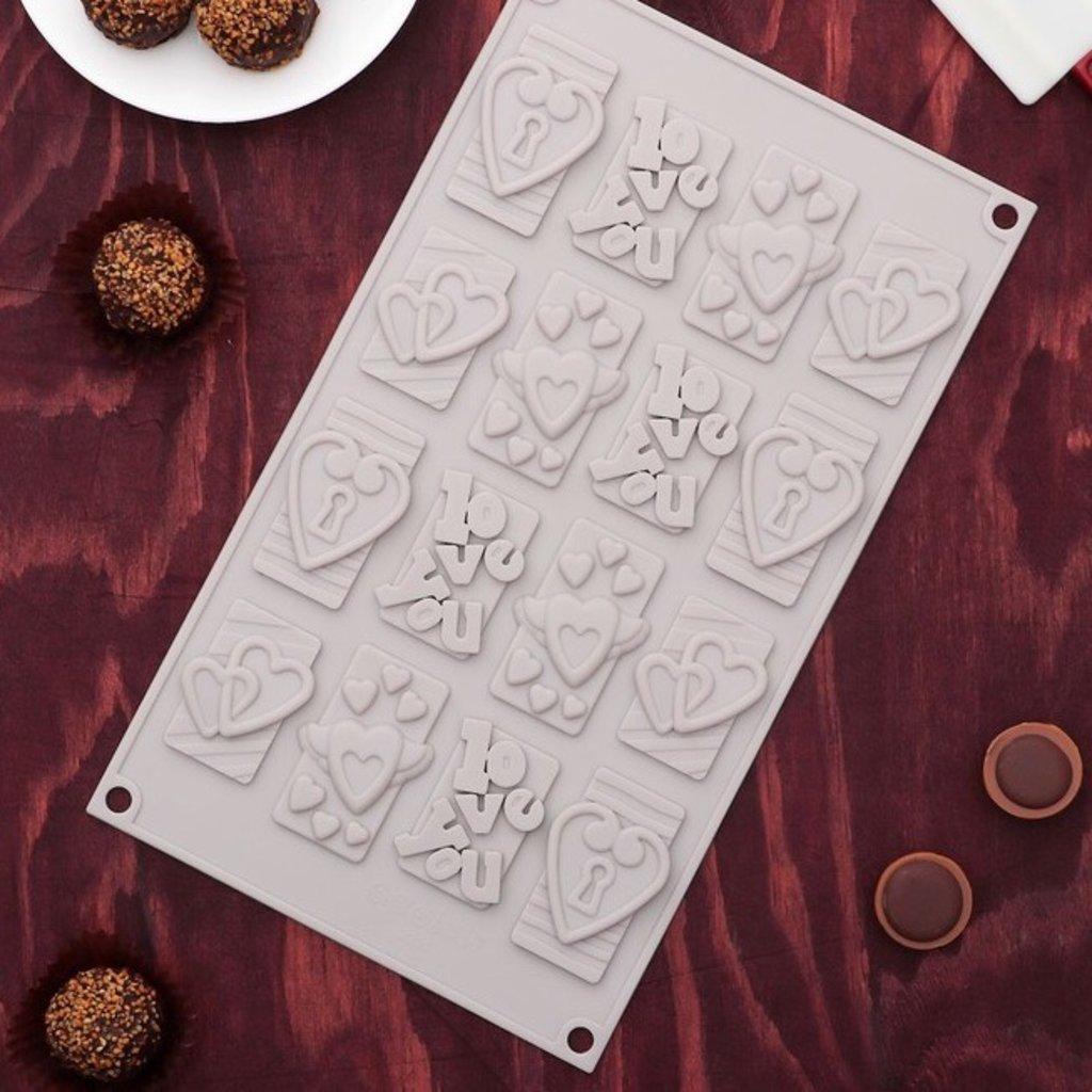 """Пластиковые формы для шоколада: Форма для шоколада """"Любовь"""" в ТортExpress"""
