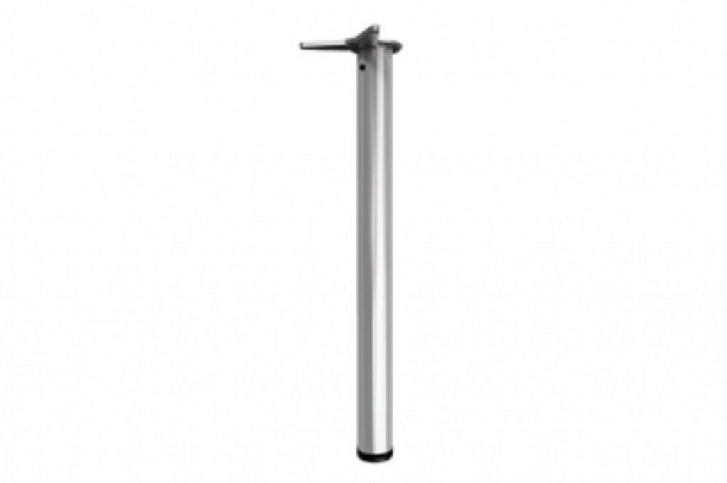 """Мебельная фурнитура """"НОВИНКИ"""": Комплект ног для стола d.60мм Н710, отделка хром матовый (4 ноги + 4 базы) в МебельСтрой"""
